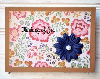 THINKING OF YOU Card - Handmade/Homemade Thinking Of You Card