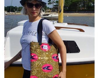 Tote Bag in Wax [Gold Peace Speedbird]