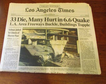 Collectable LA Times Valley Editions-Northridge Earthquake-1994
