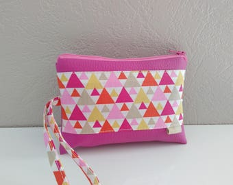 Camera Pink patterns cover graphic geometric triangles