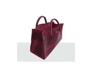 "Leather bag funny-easter egg bag shopping bag small ""transporter"" vintage-style! Handmade"