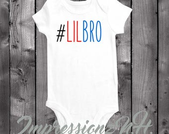 Lil Bro baby onesie - little brother baby bodysuit, New baby brother #LilBro, Im the little brother shirt, funny baby onesie, funny bodysuit