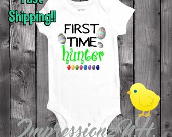 Easter onesie - 1st time hunter easter shirt