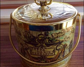 Mid Century Ice Bucket-Retrp Ice Bucket-Vintage Ice Bucket