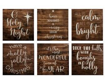 Handmade Wood Christmas Signs