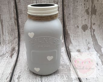 1 litre Painted Kilner Jar Vase