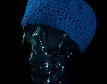 Slouchy Blue Hat