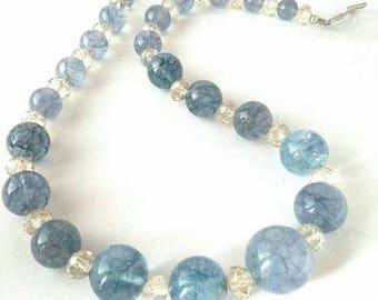 Aquamarine necklace, aquamarine's necklace, aquamarine necklace, Crystal Necklace