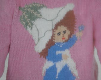 Original victoria Plum jumper knitting pattern, Wendy 2545, tree fairy pattern