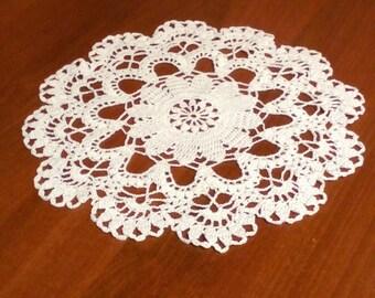 Crochet White Doily Handmade