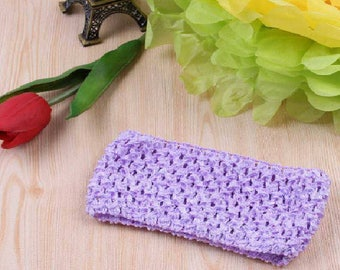 balances 2.50 instead of 2.80.Bandeau large and soft crocheted light violet/purple/lavender tutus, dresses, hair accessory