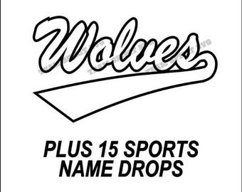 Wolves Swoosh Download Files - SVG, DXF, EPS, Silhouette Studio, Vinyl Cutting Files, Digital Cut Files - Use with Cricut and Silhouette