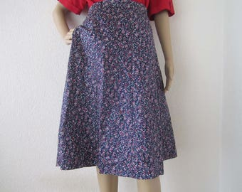 Vintage 60s skirt Mille fleurs skirt skirt cotton L