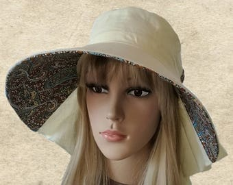 Suns womens hats, Wide brim linen hat, Summer hats women, Fabric summer hats, Women's sun hat, Hats suns lady, Brimmed hat summer