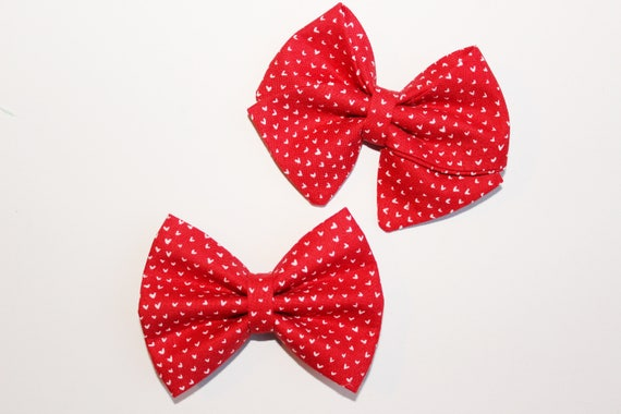 Mini Red Heart Bow
