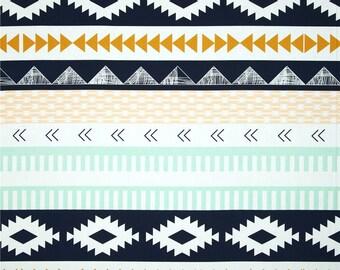 Fitted Crib Sheets-Aztec Tribal Crib Sheets-Teepee Nursery Bedding-Navy Baby Nursery Bedding-Boy Girl Crib Sheet-Tribal changing pad cover