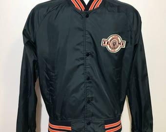 Vintage University of Illinois Chalk Line Bomber Jacket S