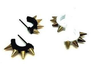 hippie style stud earrings