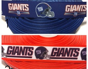 7/8 New York Giants Ribbon, New york Giants Grosgrain Ribbon