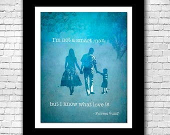 Forrest Gump and Jenny Quote Abstract Watercolor - Buy 2 Get 1 FREE