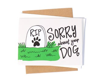 Greeting Card: Dog Sympathy