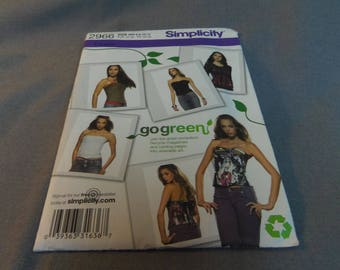 Womens Corset, Option to Upcycle and Go Green, Size 6, 8, 10, 12, Simplicity 2966, 2008