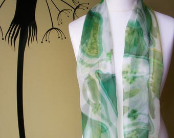 Seed Pods - Hand Painted Chiffon Scarf
