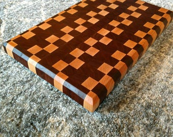 Handmade maple, and walnut endgrain cutting board