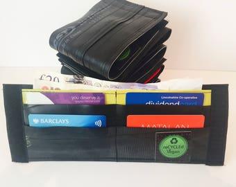 Vegan, wallet, mens wallet, gift for him, inner tube, for bike riders, for bike lovers, for vegans, upcylced