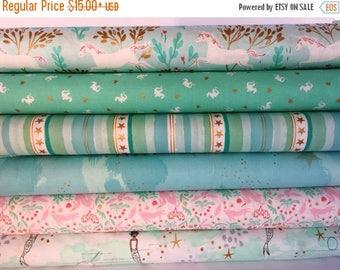 Sale Aqua Magic Bundle by Sarah Jane for Michael Miller Fabrics - 6 different fabrics