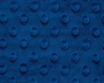 Sale Royal Blue Minky Cuddle Dimple Minky - Shannon Fabrics - Dimple Minky