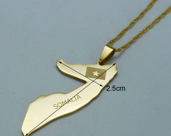 Somalia gold plated stainless steel necklace