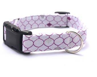 Purple and White Dragon Scale Collar
