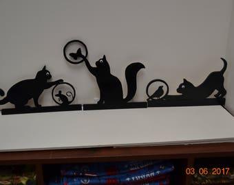Cats Doortopper  (Set of three different Cats)