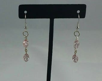 Pink dangling earrings