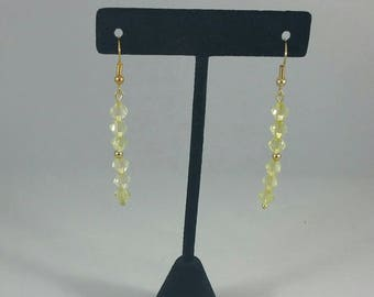 Lime green swravoski bead earrings