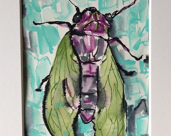 Cicada With Green Wings