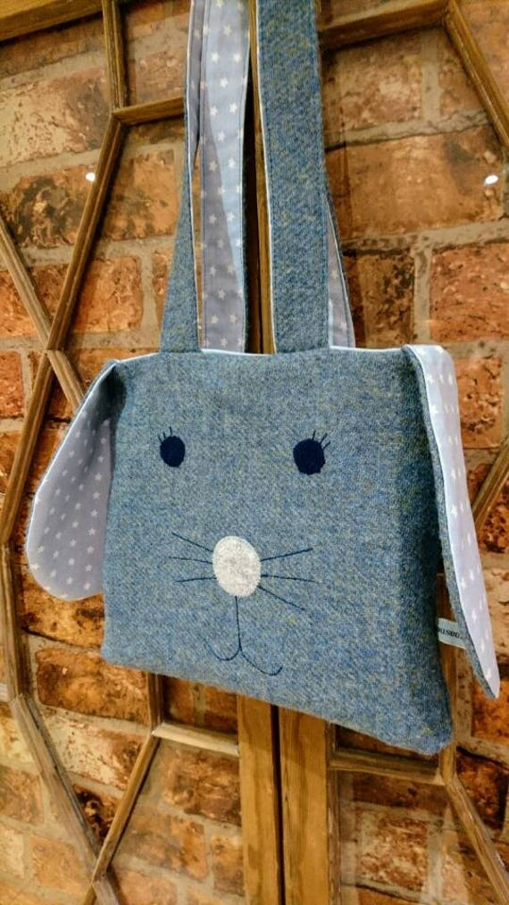 SALE Hand Crafted Harris Tweed bunny bag