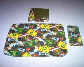 Handemade Placemat/Napkin Made Using John Deere Fabric