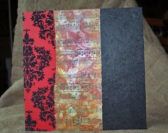 Unique and original stand square - format and accordion photo album - red, black and more...