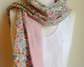 Old pink satin scarf and betsy porcelain liberty