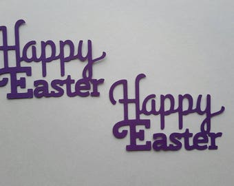 Happy Easter sentiment - Happy Easter title - Easter die cuts - Easter cutouts - Easter embellishments