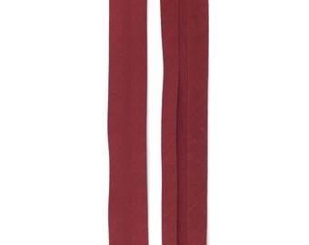 5 m lined polycotton plain Burgundy 20mm