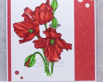 Any Occasion Poppy Card