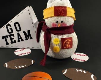 USC Trojans,Snowman,Fight On,USC,Trojans,University of Southern California,USC decor,Trojans accessory,Gift for Trojans fan,Trojans fan gift