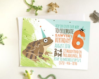 Toad Birthday Invitation, Nature Toad Party Invitation, Nature Invitation, DIY Printable Toad Invitation