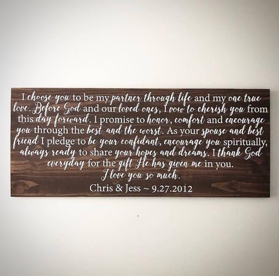 Custom Wood Sign Personalized 20x48 Wedding Song Lyrics