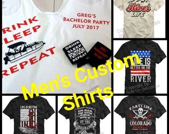 Men's Custom Shirts and Tank Top