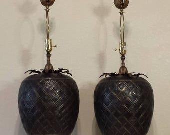 Pair of John Richard Brass Table Lamps