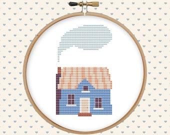House cross stitch pattern pdf - counted cross stitch - home cross stitch - modern cross stitch - instant download - pattern modern